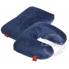 Ταξιδιωτικό μαξιλάρι Cuddlebug 2 σε 1 μπλέ
